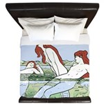 Art Nouveau: Bathin... King Duvet