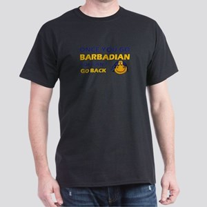 Barbadian smiley designs Dark T-Shirt