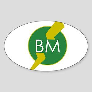 Best Man Oval Sticker