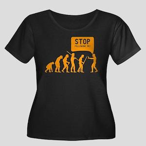 Evolution is following me Plus Size T-Shirt