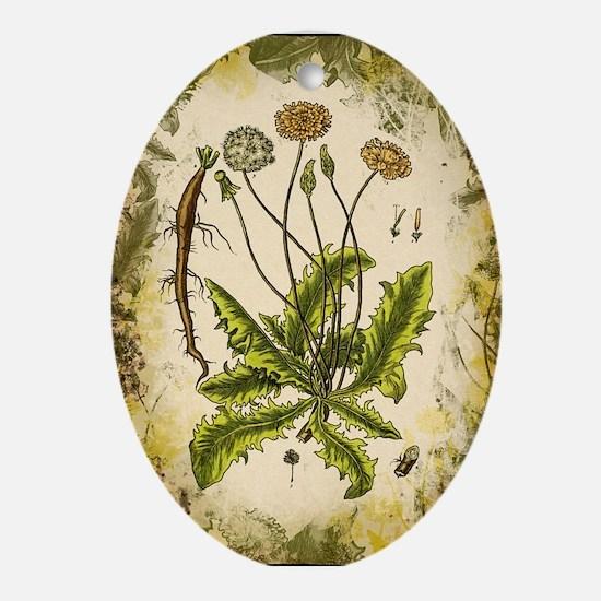 Vintage Dandelion Ornament (Oval)