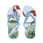 Art Nouveau: Bathing Nymphs Flip Flops
