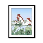 Art Nouveau: Bathing Nymphs Framed Panel Print