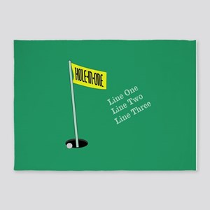 Golf Hole in One 5'x7'Area Rug