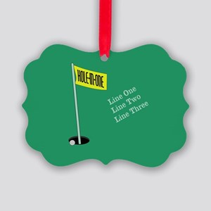 Golf Hole in One Picture Ornament