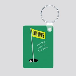 Golf Hole in One Aluminum Photo Keychain