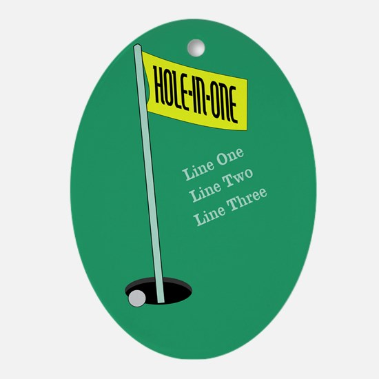 Golf Hole in One Ornament (Oval)
