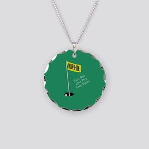 Golf Hole in One Necklace Circle Charm