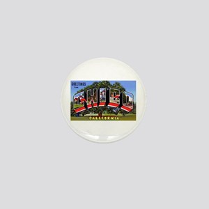 Chico California Greetings Mini Button