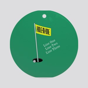 Golf Hole in One Ornament (Round)