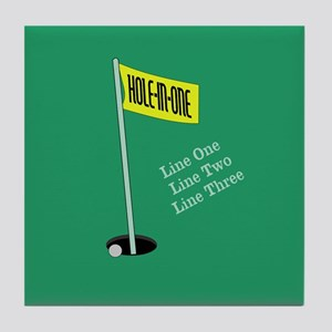 Golf Hole in One Tile Coaster