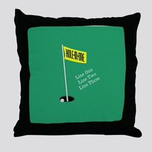 Golf Hole in One Throw Pillow