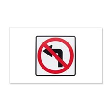 No Left Turn Wall Decal