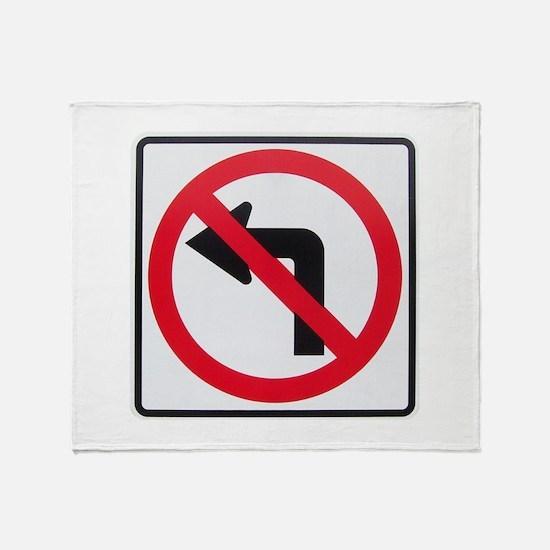 No Left Turn Throw Blanket