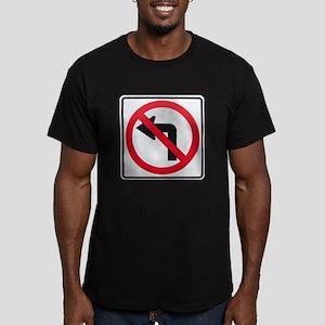 No Left Turn Men's Fitted T-Shirt (dark)