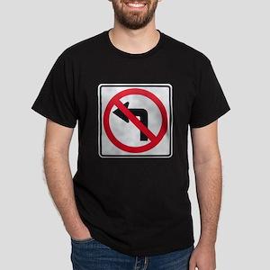 No Left Turn Dark T-Shirt