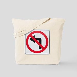 No Left Turn Tote Bag