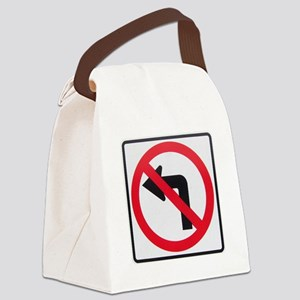 No Left Turn Canvas Lunch Bag