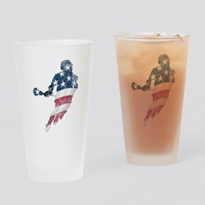 USA Lacrosse Drinking Glass