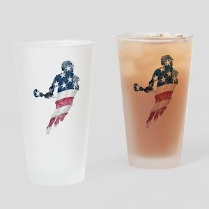USA Lacrosse Drinking Glass