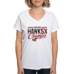 HAWK5X Women's V-Neck T-Shirt