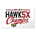 HAWK5X Sticker (Rectangle)