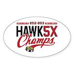 HAWK5X Sticker (Oval)