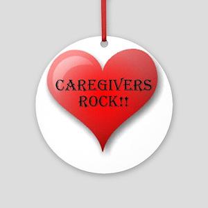 Caregivers Rock Ornament (Round)