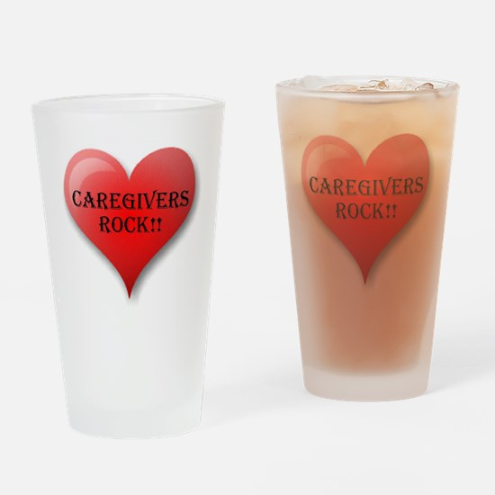 Caregivers Rock Drinking Glass