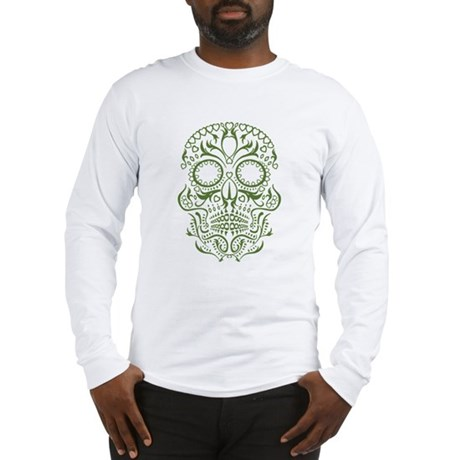 Green calaveras Long Sleeve T-Shirt