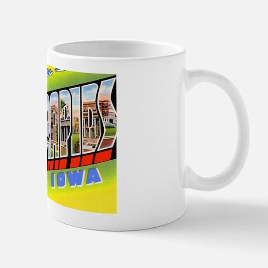 Cedar Rapids Iowa Greetings Mug