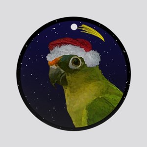 Christmas Night Peach Front Conure Ornament
