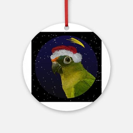 Christmas Night Peach Front Conure Ornament