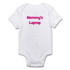 Mommy's Laptop pink Infant Bodysuit