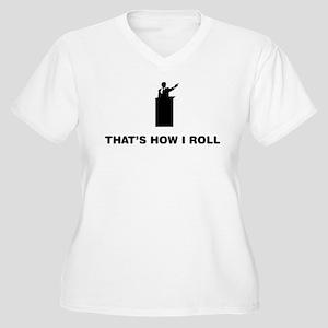 Debater Women's Plus Size V-Neck T-Shirt