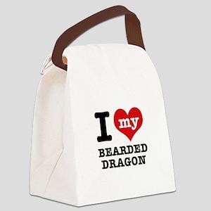 I love my Bearded Dragon Canvas Lunch Bag