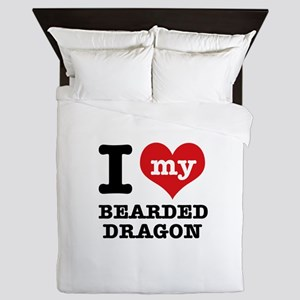 I love my Bearded Dragon Queen Duvet