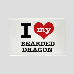 I love my Bearded Dragon Rectangle Magnet