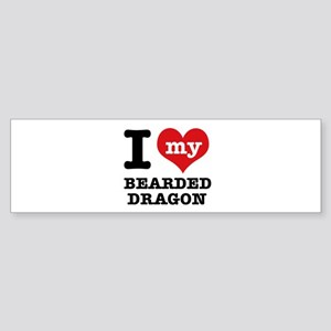 I love my Bearded Dragon Sticker (Bumper)