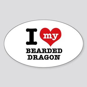 I love my Bearded Dragon Sticker (Oval)