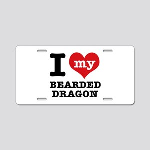 I love my Bearded Dragon Aluminum License Plate