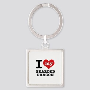 I love my Bearded Dragon Square Keychain
