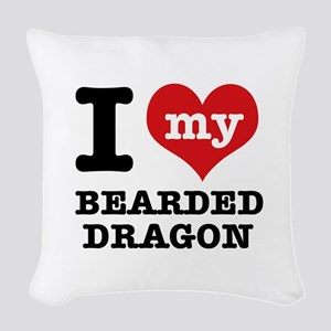 I love my Bearded Dragon Woven Throw Pillow
