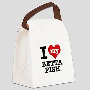 I love my Betta Fish Canvas Lunch Bag