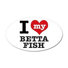 I love my Betta Fish Wall Decal