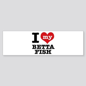 I love my Betta Fish Sticker (Bumper)
