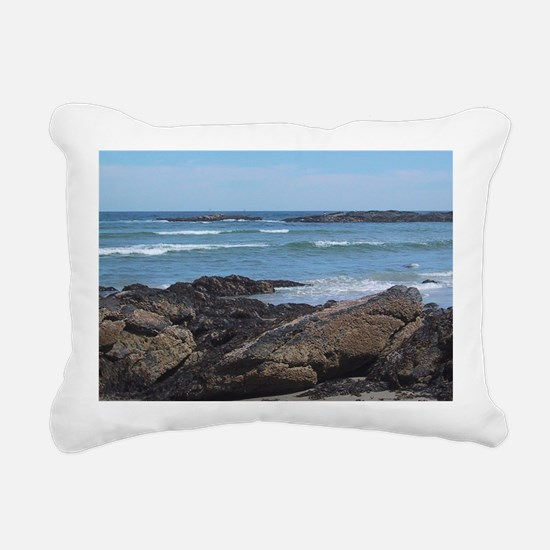 Maine Coastline Rectangular Canvas Pillow