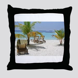 Pure Maldives Throw Pillow