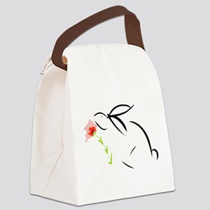 Bunny and flower Canvas Lunch Bag
