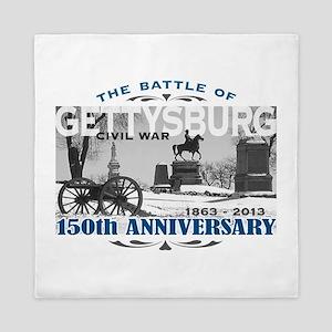 150 Anniversary Gettysburg Battle Queen Duvet